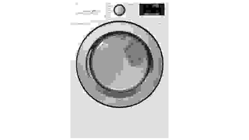 The LG DLE3500W dryer on a white background.