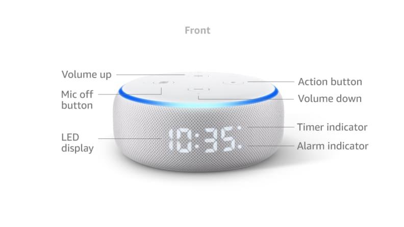 Echo Dot 3 display elements