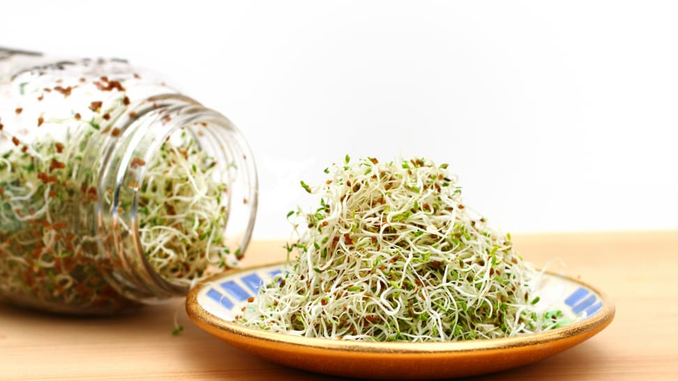 Sprouts, such as alfalfa sprouts, can pose a danger if not handled and cooked thoroughly.
