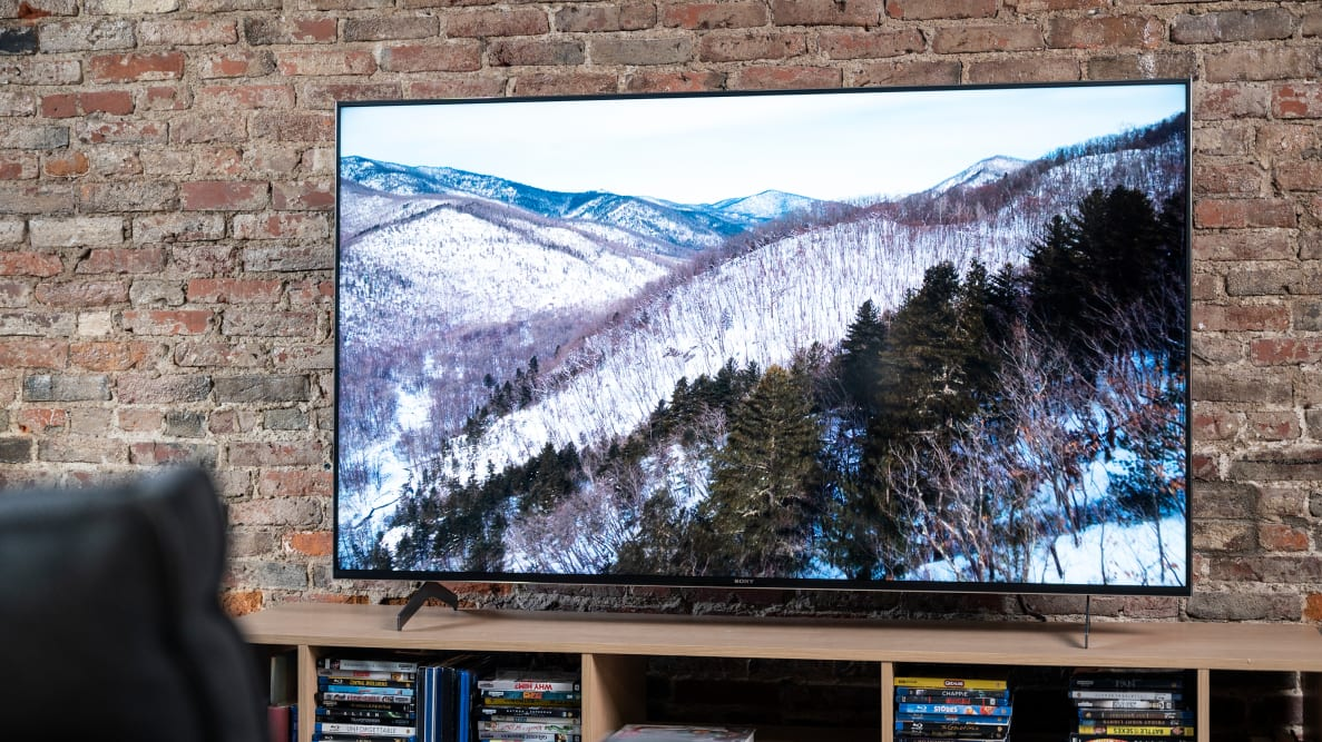 The 65-inch Sony X900H displaying HDR content