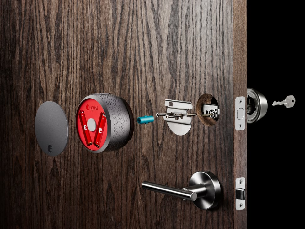 The August Smart Lock disassembled