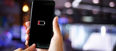 Dying smartphone battery hero