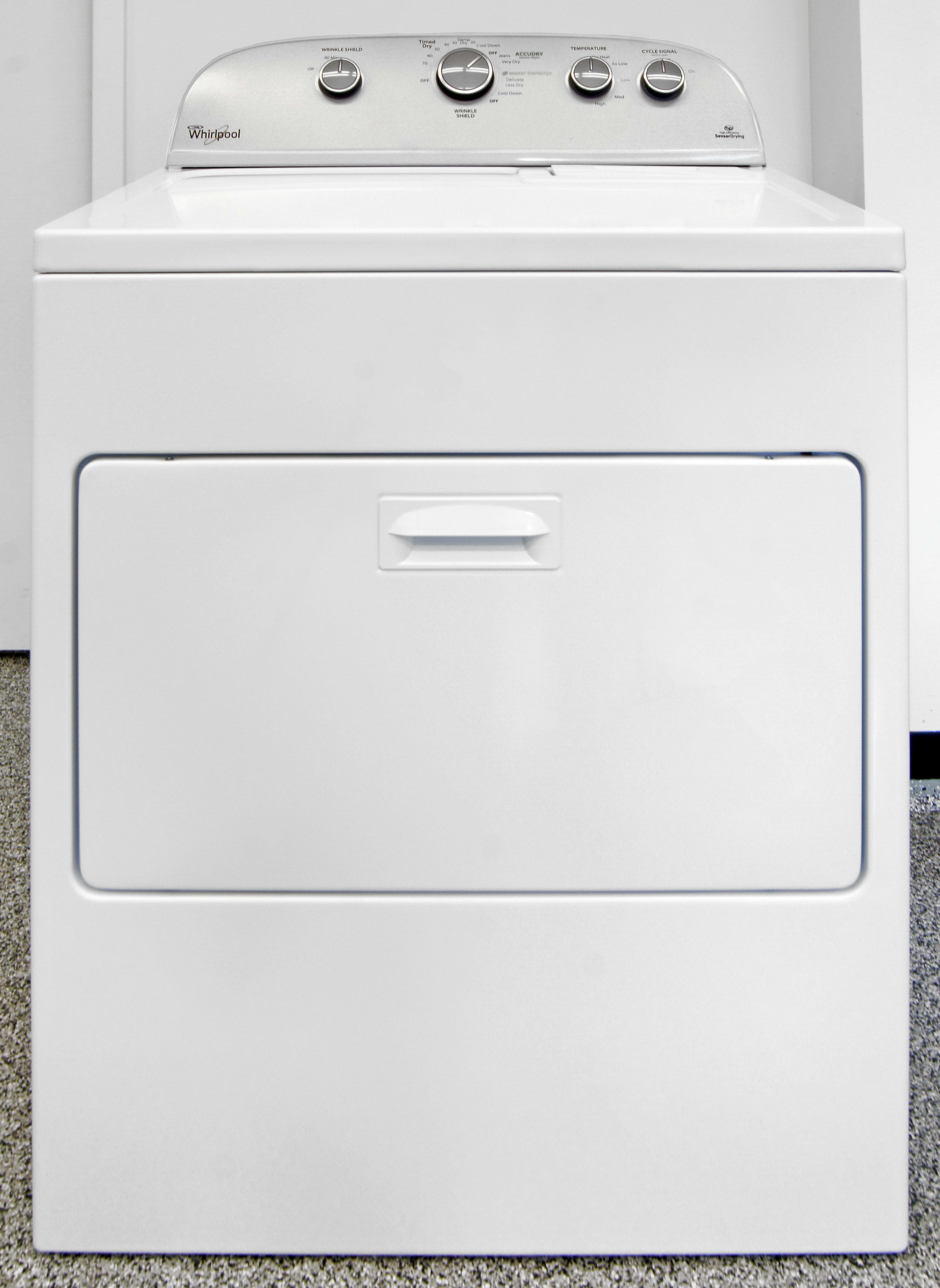 Whirlpool Wed4915ew Dryer Review Laundry Senseon Wiring Diagram The Wed5000ew Is An Old School White And Grey Hamper Door