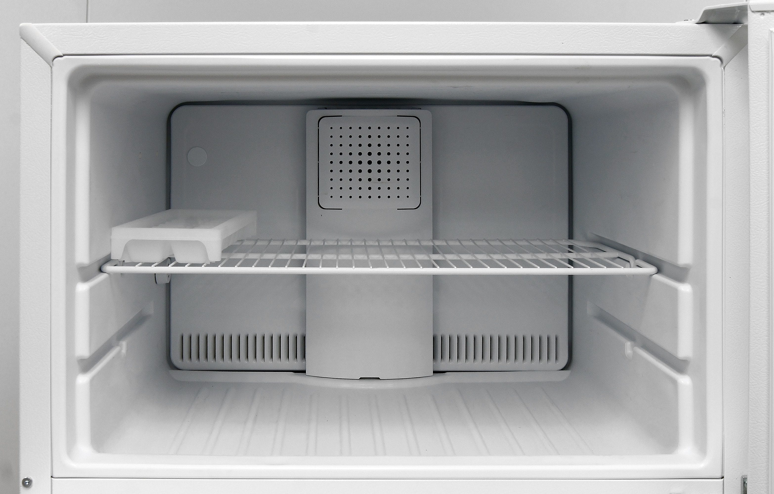 Without an icemaker in the GE GTS16DTHWW, you can move the wire shelf around as you see fit.