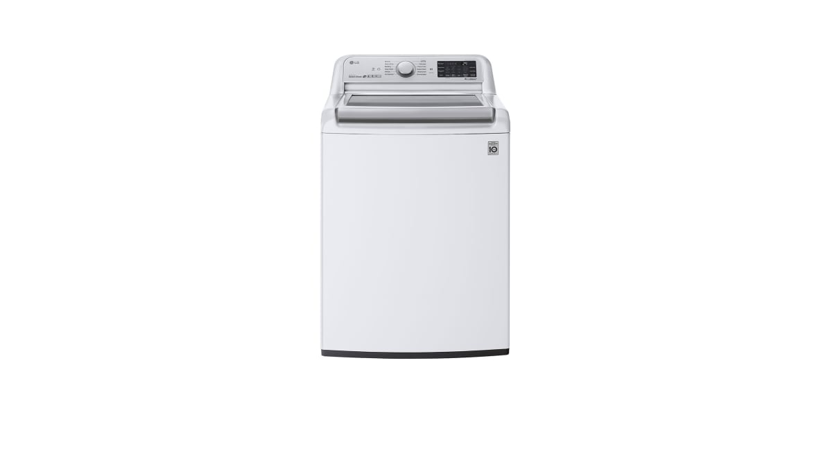 The LG WT7800CW conquerors mountains of laundry with its size
