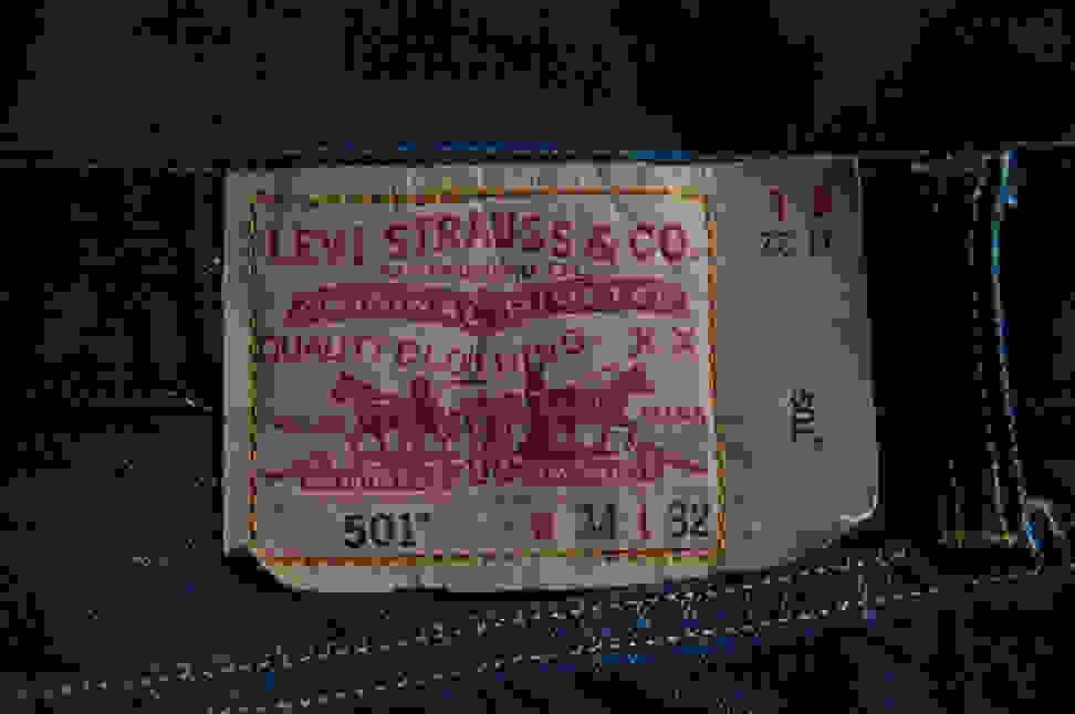 Levi Strauss jean label