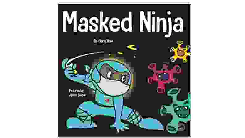 A cover of a book with a child ninja