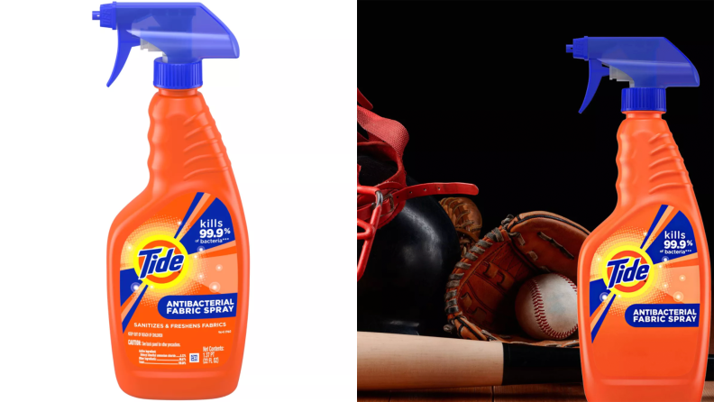 Tide fabric spray is ideal for clothes that can't be washed every day.