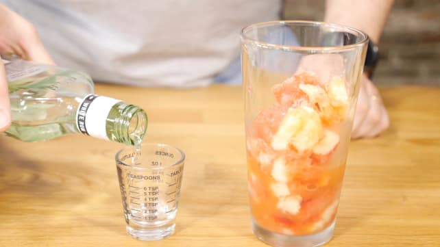 Adding rum to Summer Slush