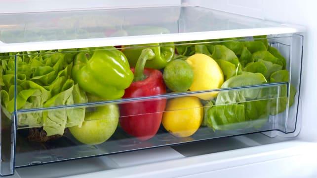 Produce-in-crisper-drawer