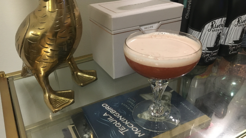 finished cocktail