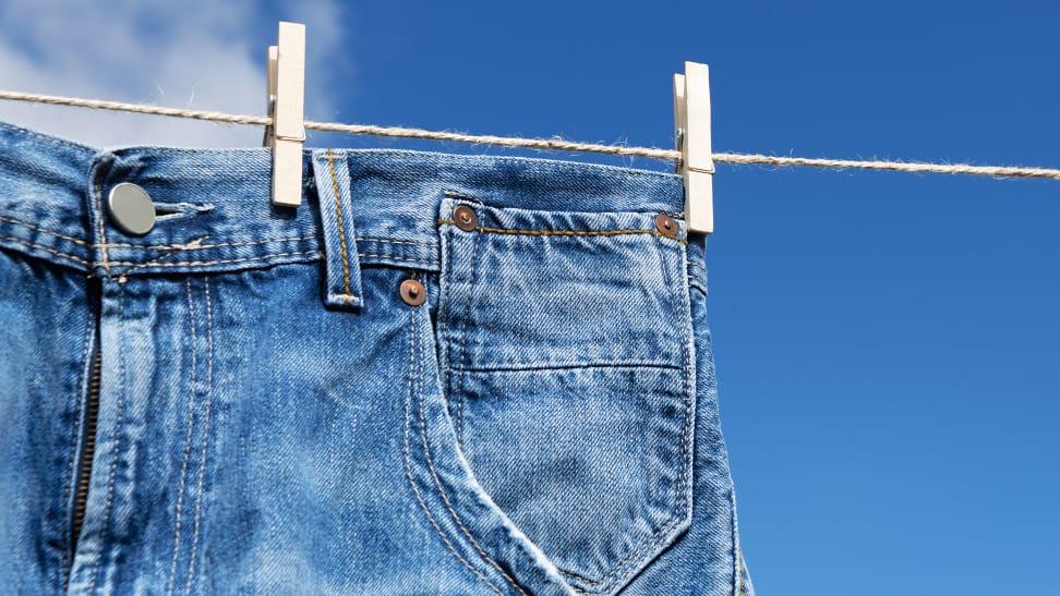 Jeans On A Clothesline