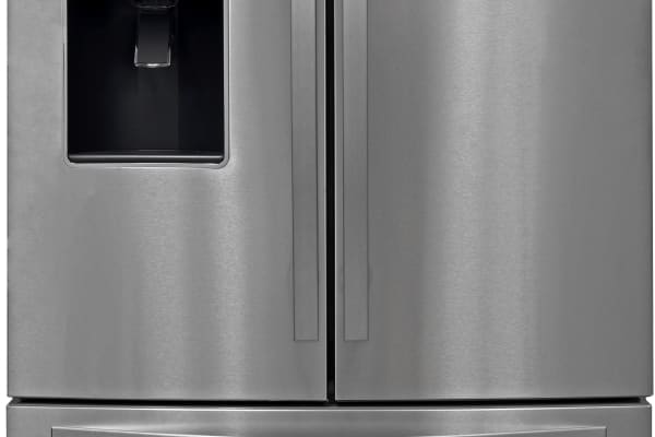The stainless steel Whirlpool WRF757SDEM has a very familiar look that should fit in well with most kitchen appliances.