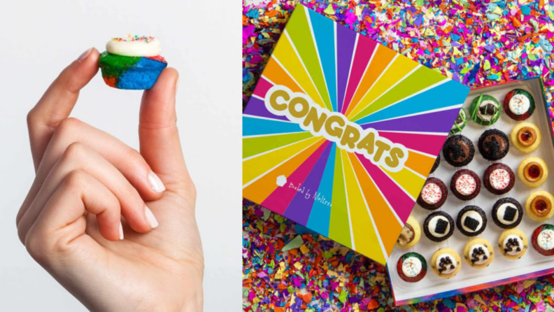 Best engagement gifts: Baked by Melissa cupcakes