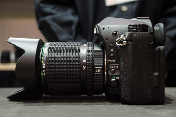 The left side of the Pentax K-1