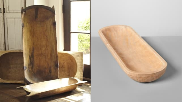 A Dough Bowl With That Pottery Barn Meets Fixer Upper Look
