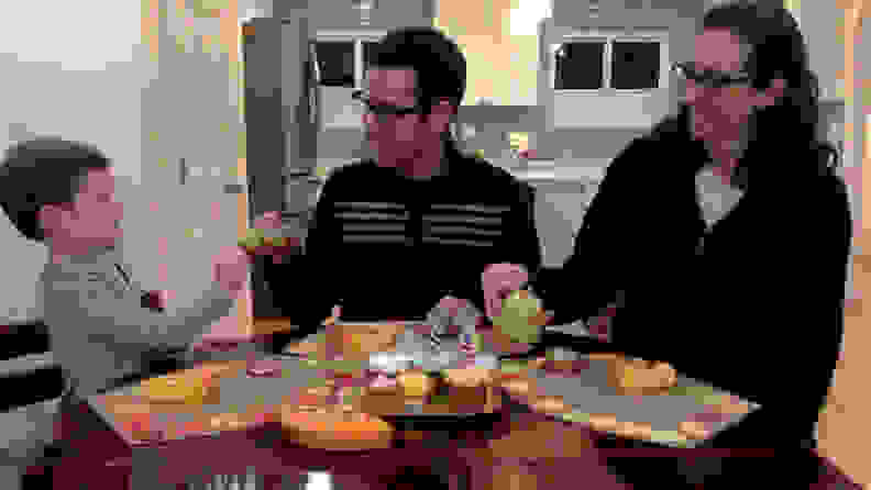 Slightly improved photo of family at table