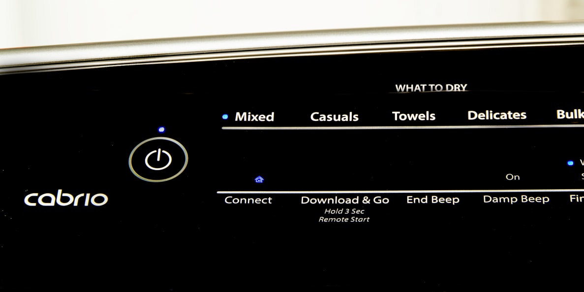 The Whirlpool WED8700ED has smart features