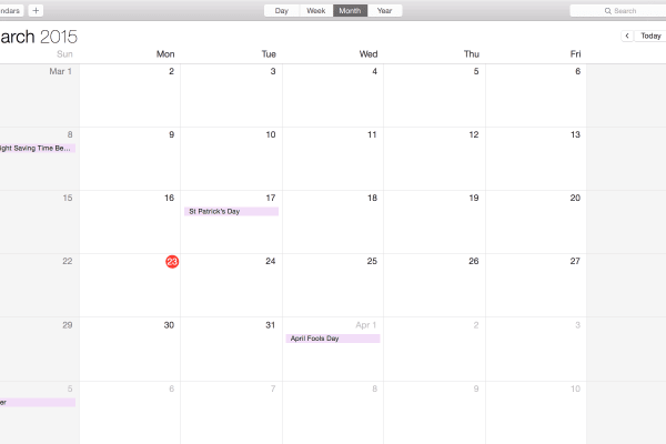 Apple's Calendar app syncs across your devices, keeping you in the loop from your iPhone to your iPad to your MacBook.