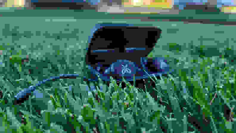 Grass case open