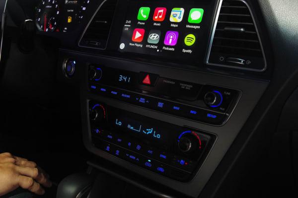 The CarPlay home screen.