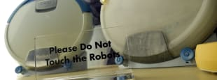 Do not touch the robots front hero 1