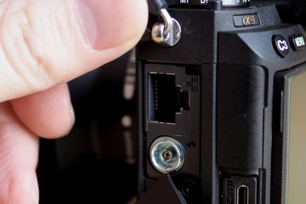 For sports shooters working for wire services, the A9's Ethernet port will surely come in handy.