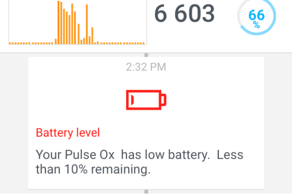 Low Battery Card on Timeline