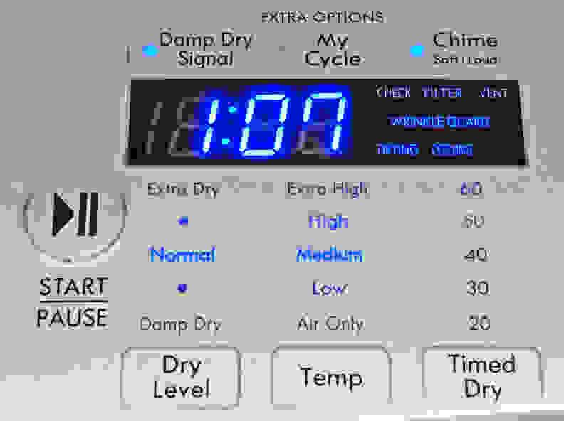 Kenmore Elite 61422 Controls