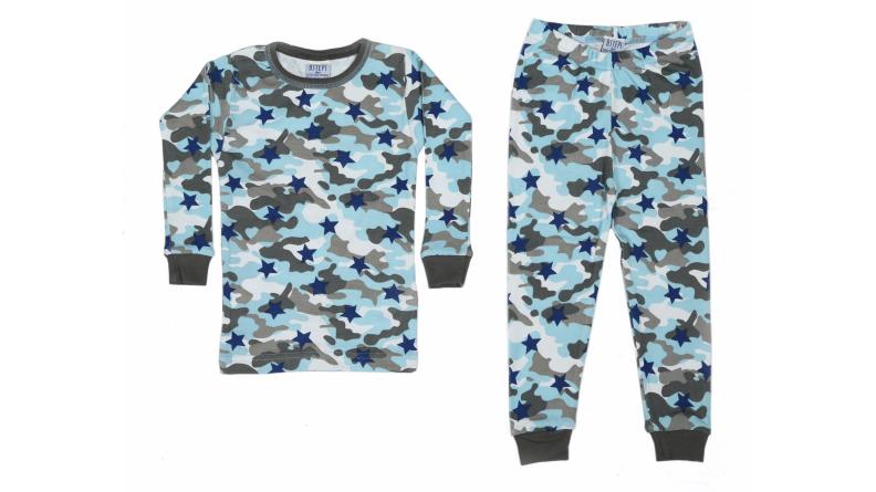 Baby Steps Camo Stars pajamas