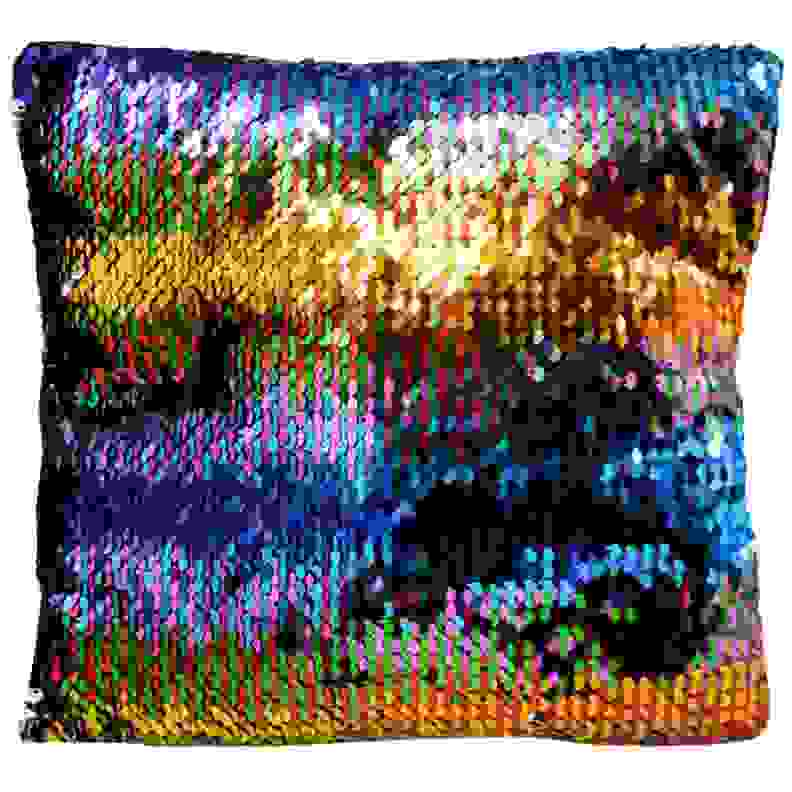 Kids Birthday Party Favors Reversible Sequin Mermaid Pillow