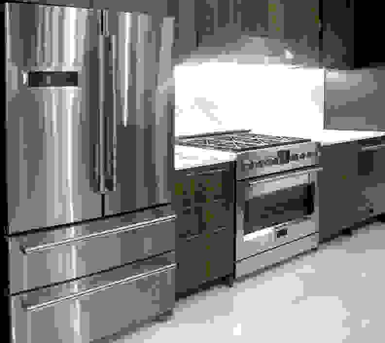 Fulgor Milano Refrigerator, Dishwasher, and Range