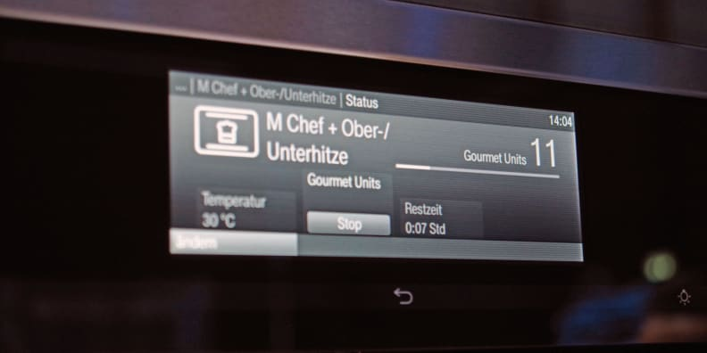 Miele Dialog digital display