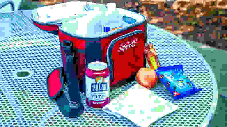 The Coleman 9-can Soft Sided Cooler is a great lunch cooler.