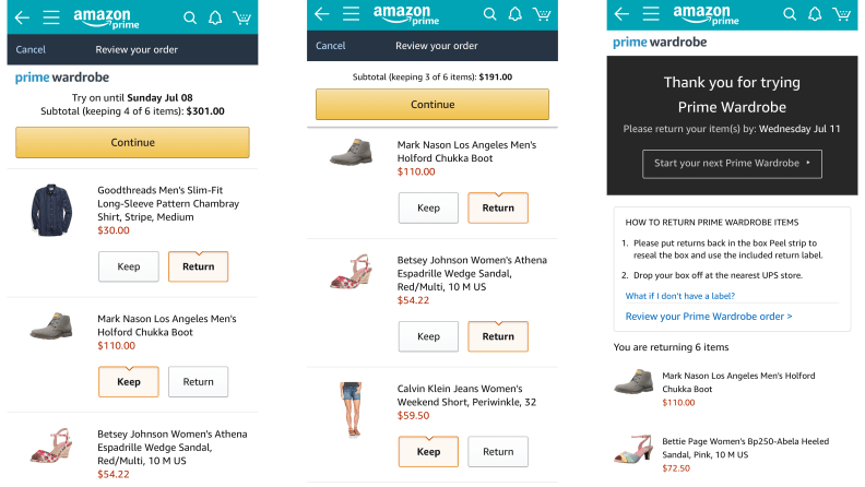 Amazon Prime Wardrobe: I tried the newest service for Prime