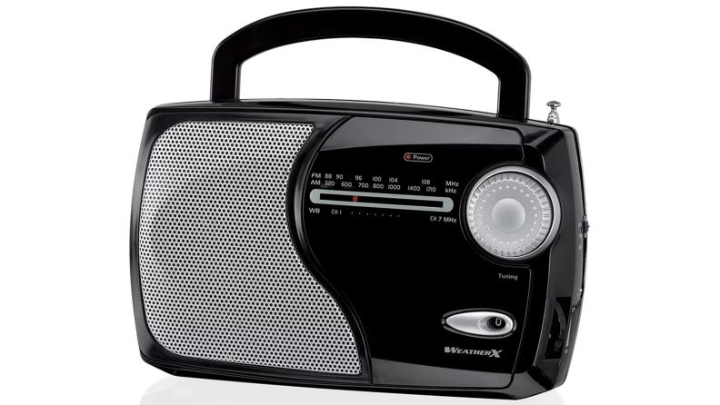 A black radio