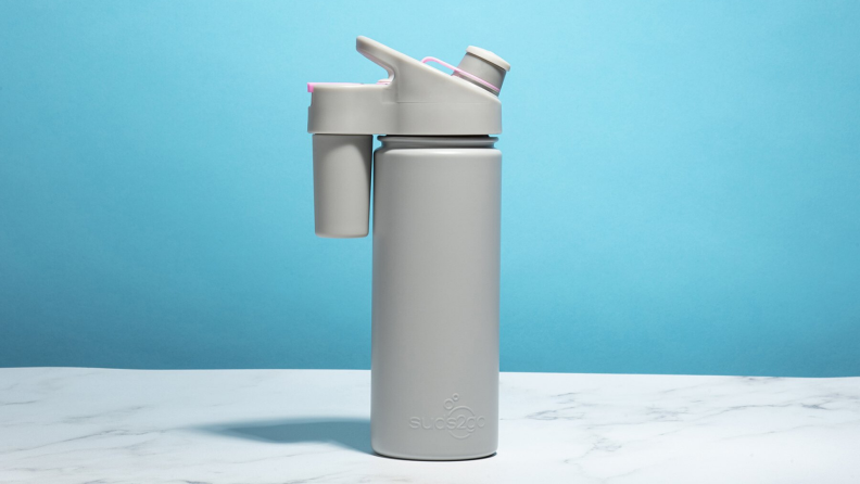 Need to wash your hands? Suds2Go is the first water bottle with a built-in foaming soap container and pump.