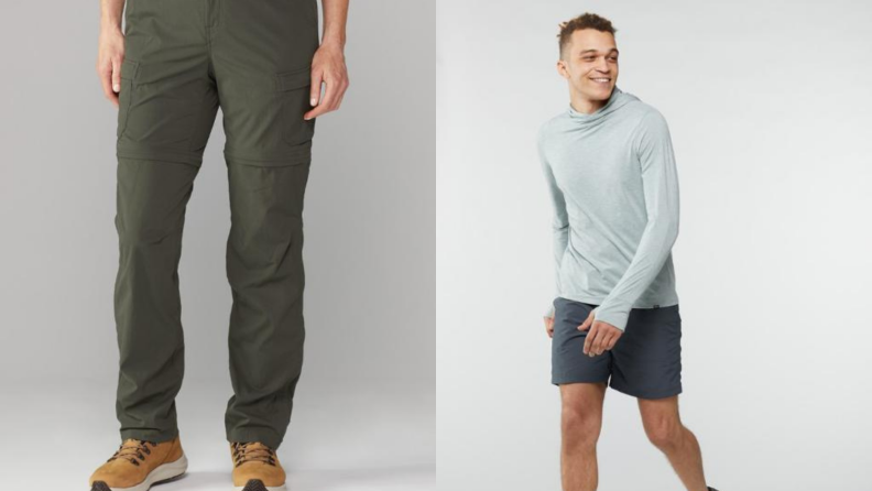 pair of zip-off cargo pants, shorts by REI