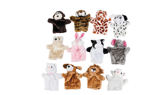 Kids Birthday Party Favors Stuffed Animal Hand Puppets