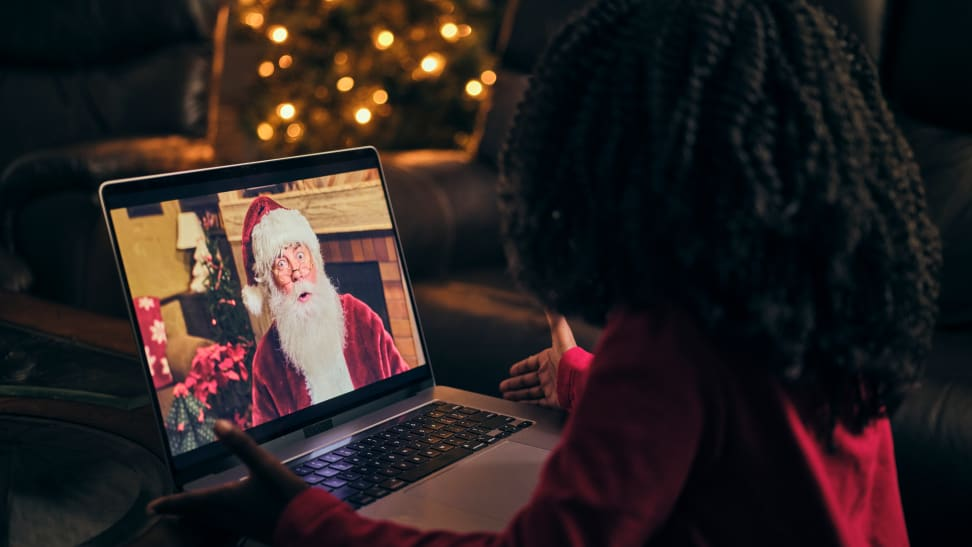 Virtual Santa Claus visit