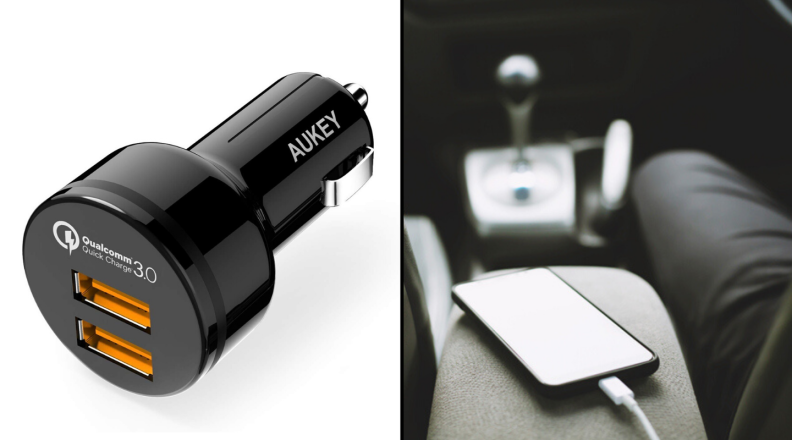 AUKEY Dual Port Quick Car Charger