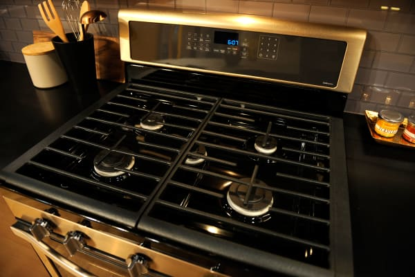 Sunset Bronze has almost all the same qualities as stainless, making it as easy (or as difficult) to clean.