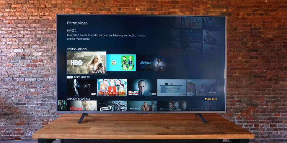 Westinghouse Amazon Fire TV Main Menu