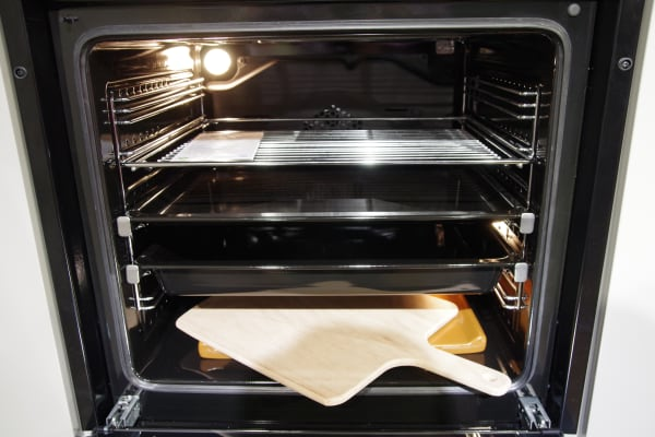 Ovens with the PizzaPro feature come with a pizza stone.