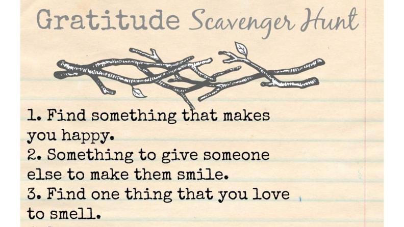 Gratitude scavenger hunt