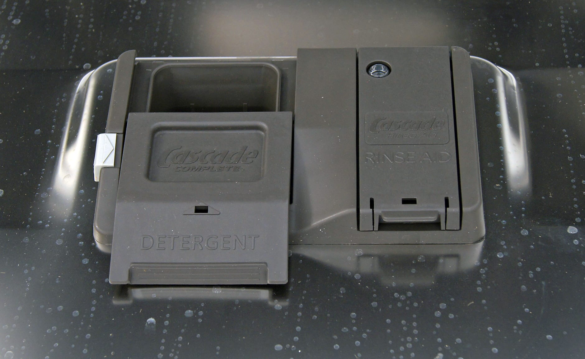 GE Monogram ZDT870SSFSS's detergent and rinse aid dispenser