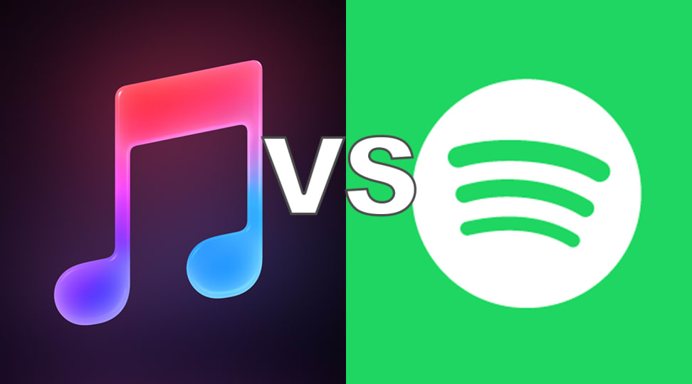 Apple Music Icon and Spotify Icon