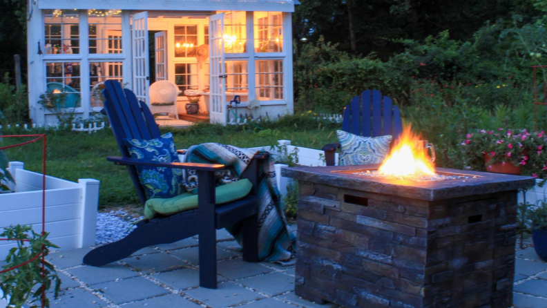 a firepit is a nice outdoor patio idea for fall