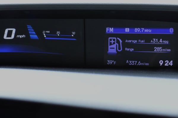 There's still a second screen on the 2014 Honda Civic—but it's for vehicle diagnostics and a trip computer.