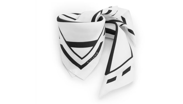Cuyana Silk Striped Scarf